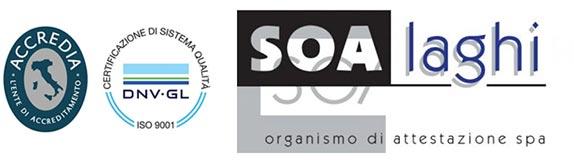 Certificazioni Accredia, ISO 14001, SOA laghi